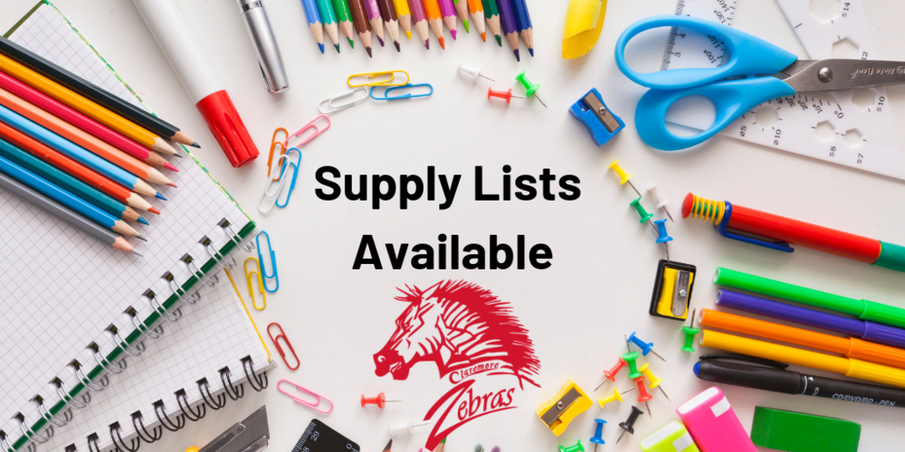 School Supply Lists Now Available