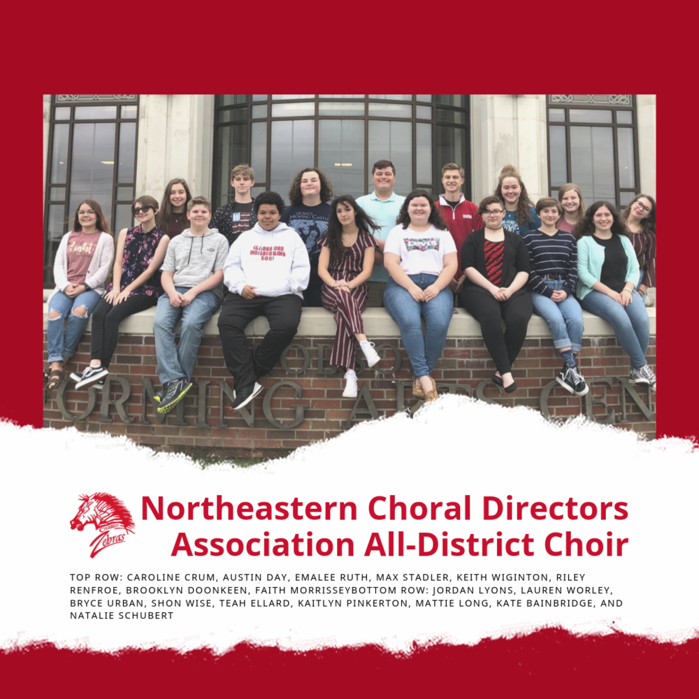 Seventeen CHS choral students selected for the Northeastern Choral Directors Association All-District Choir