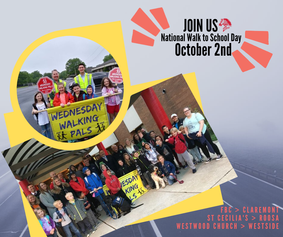 Join us for National Walk to School Day - Oct. 2nd