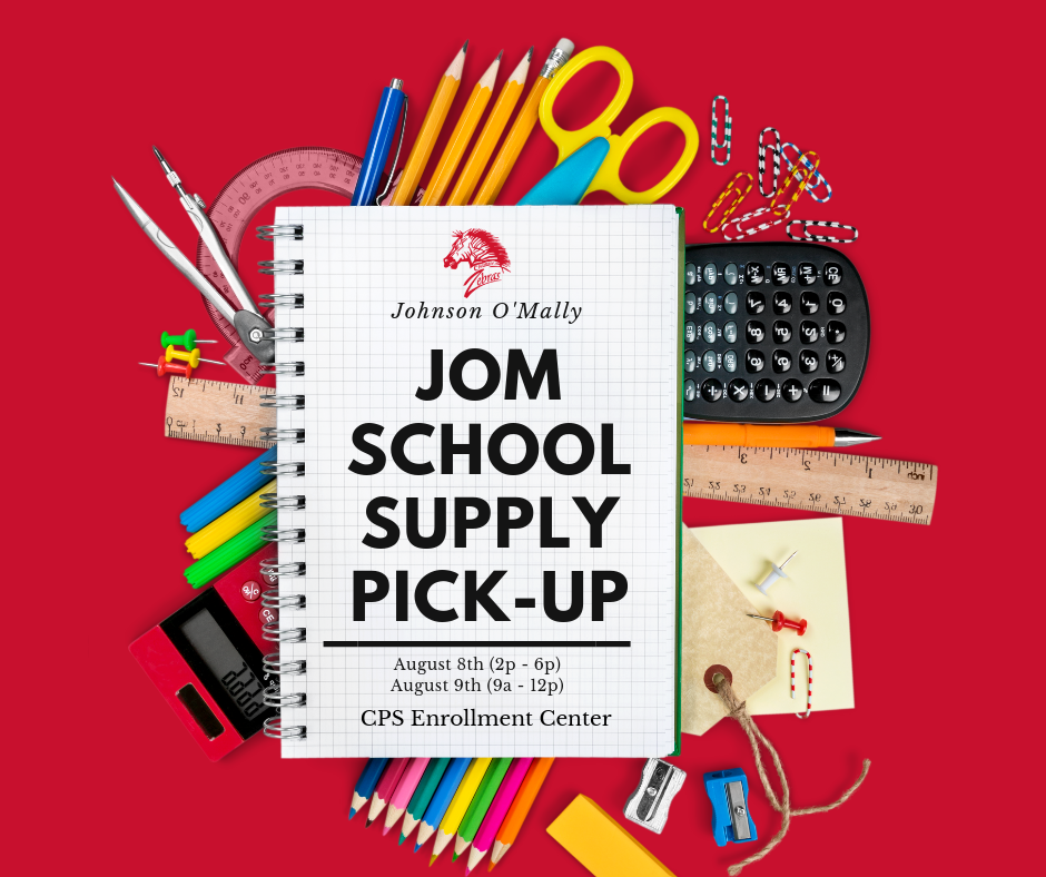 JOM School Supply Pick Up Dates 2019