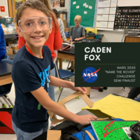 WRJH Student Semi-Finalist in the Future Engineers LLC - Name NASA's Mars 2020 Rover