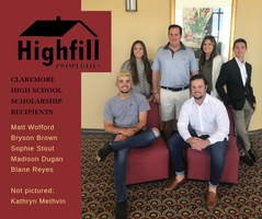 Highfill Properties Scholarship Winners