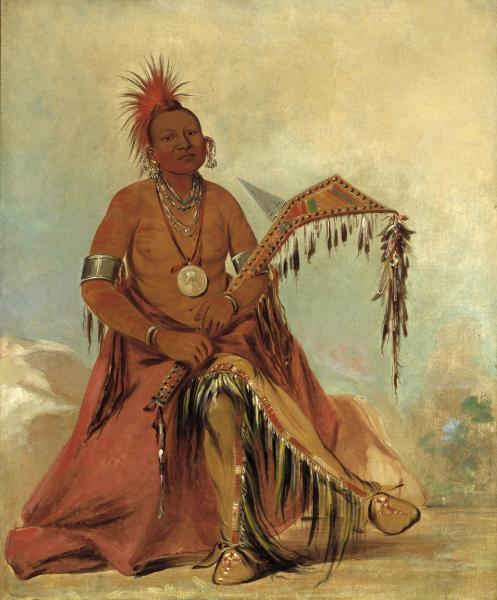 Chief Cler'mont  photo https://americanart.si.edu/artwork/cler-mont-first-chief-tribe-3999