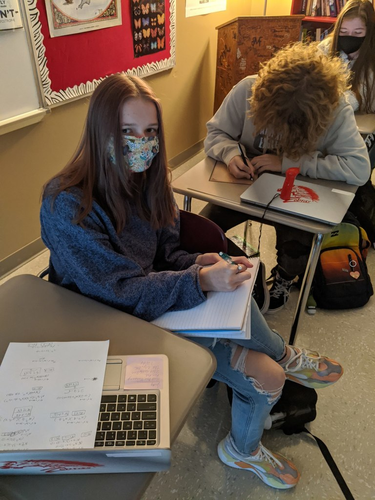 "Mrs. Andrews' creative writing students write letters to pen pals in towns across the state, such as Collinsville, Elk City, and Owasso.  ""My students love this project - they are making connections with an older generation and learning things about what life was like many years ago,""  said Mrs. Andrews."