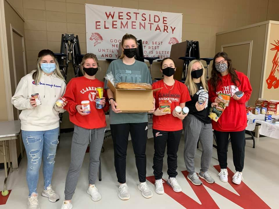 For the past several years, the Lady Zebras have helped fill food baskets at @Westside Elementary.