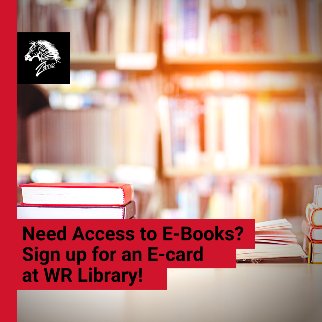 No Library Card? Apply for a temporary E-Card at Will Rogers Library and access our digital resources from home!