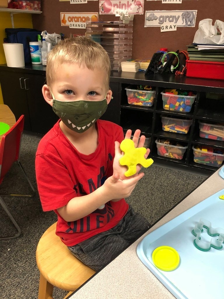 Our PreK students love to play with playdough! Not only is playdough fun and entertaining, but it also helps develop small motor skills in our youngest Zebras!