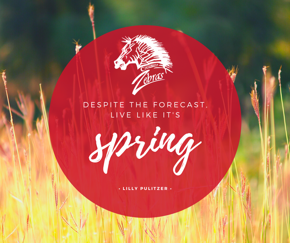 despite the forecast live like it's spring