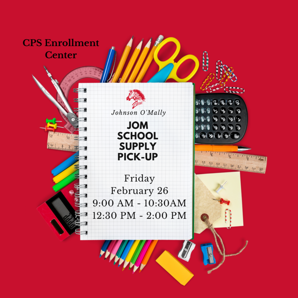 CPS JOM program will be hosting a spring school supply distribution this Friday, February 26th