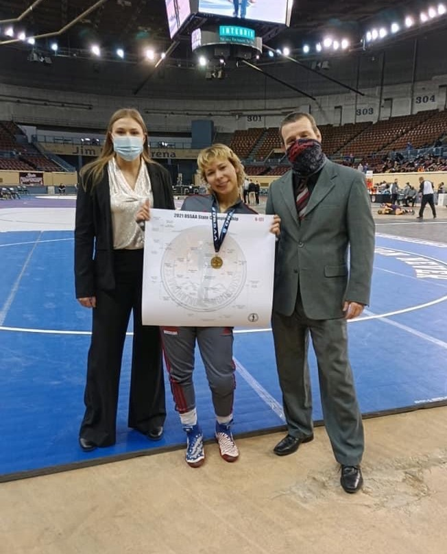 5A girls state wrestling champion.
