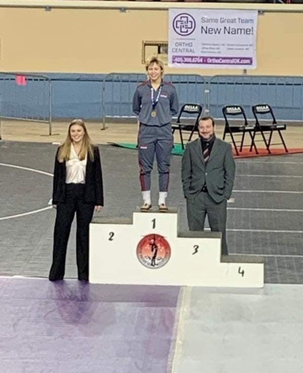 Five a girls state championship wrestler.