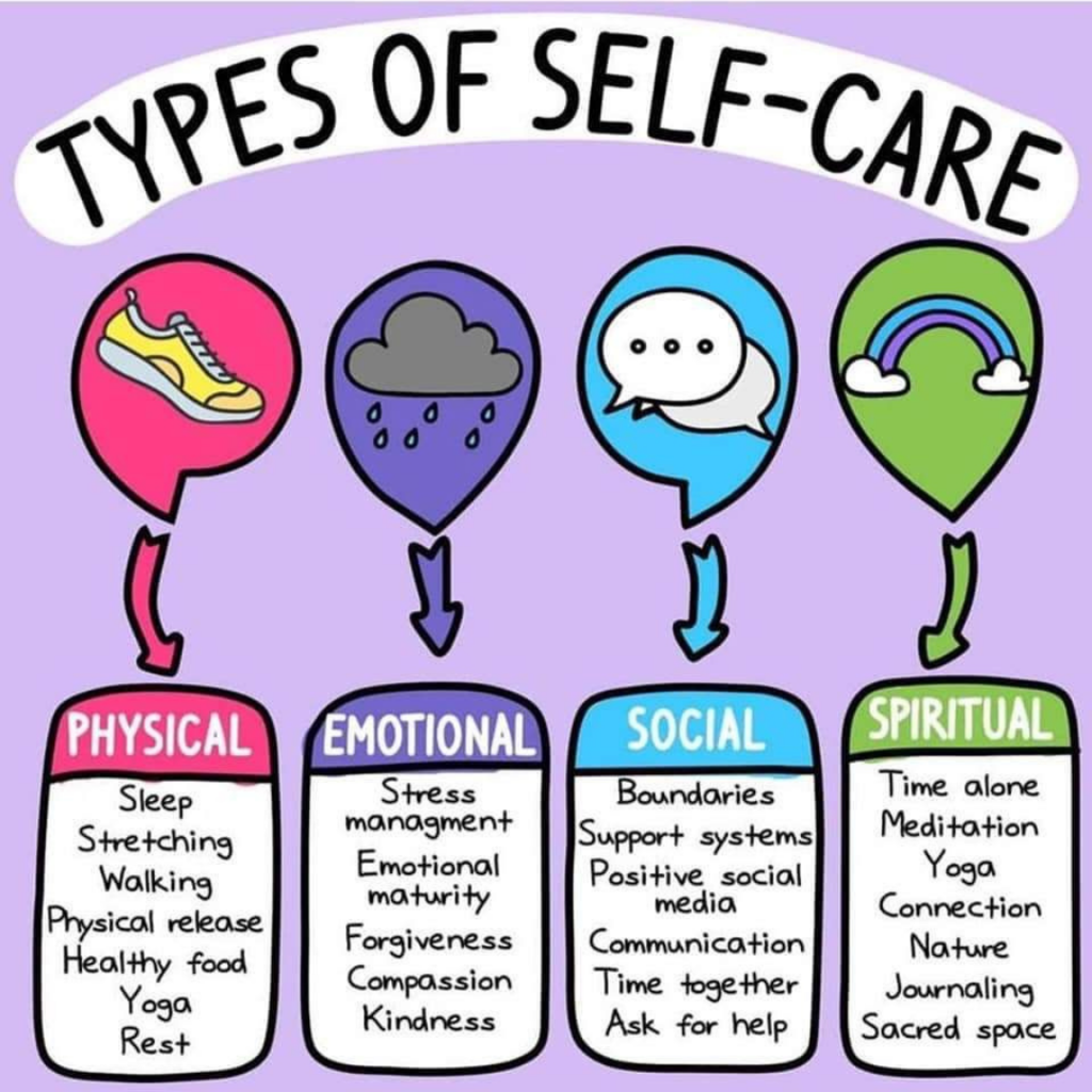 On this #wellnesswednesday, we recognize that kids should practice self-care, too!   These are some great suggestions to keep in mind when you notice that your child is struggling.  #CPSZEBRAPRIDE  (image via @CASofHamilton)