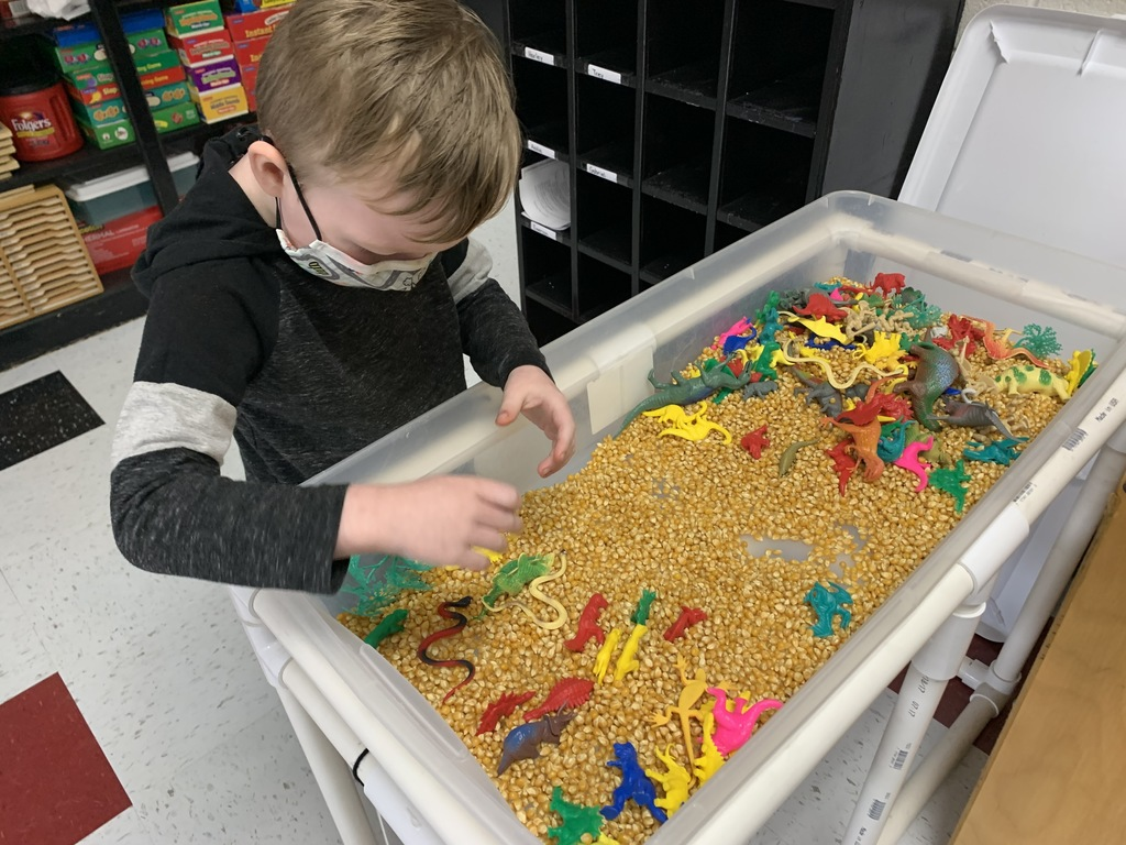One of our Kindergarten students spends time at the sensory table.   A sensory table is a great way for children to learn how to independently explore the world around them, problem-solve, develop creativity, and refine conversational skills.  #CPSZEBRAPRIDE