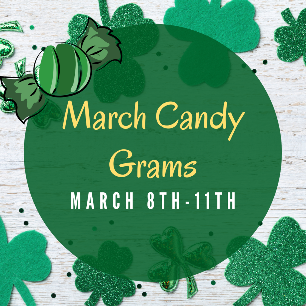 Candy Grams will be for sale beginning Monday, March 8th - Thursday, March 11th.   Please send candy grams completely filled out with exact change. There will be a basket for students to drop these off in the foyer where students enter the building.   #CPSZEBRAPRIDE
