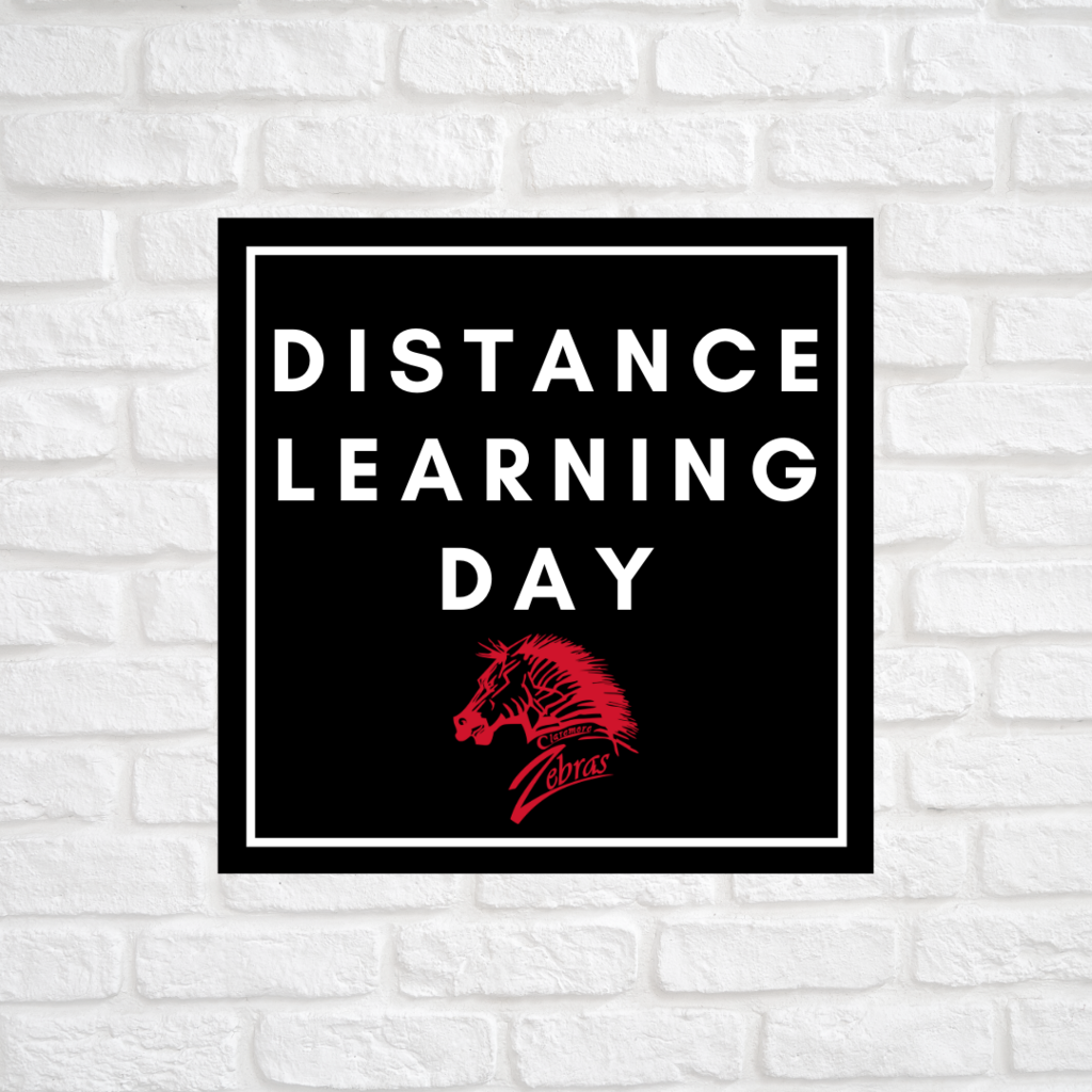 Today is a Distance Learning Day, Zebra family! Please remember to have your student log on and complete their school work.   #CPSZEBRAPRIDE
