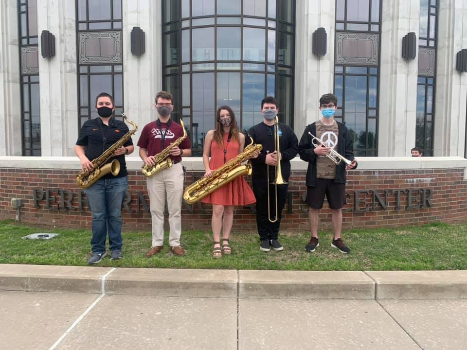 We had five students selected to be a part of the Oklahoma All-Star Jazz Band