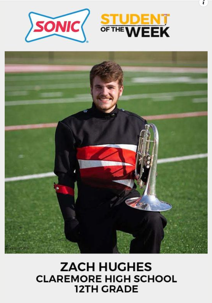 STUDENT OF THE WEEK: Congratulations Zach! The senior from Claremore was named this week's Student of the Week. Nominate a student in your life at NewsOn6.com/Student.