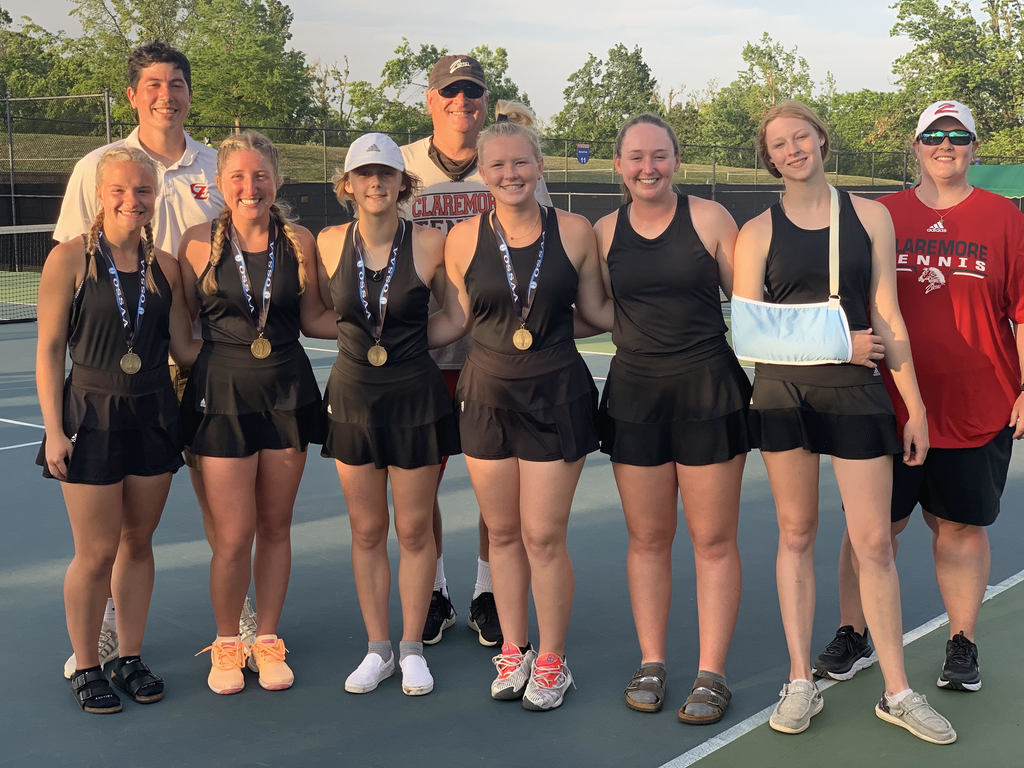 Our Lady Zebra tennis team did a little talking with their racquets and playing their hearts at the OSSAA State Tennis Tournament this weekend.  That hustle and heart set them apart and allowed them to bring home some hardware.