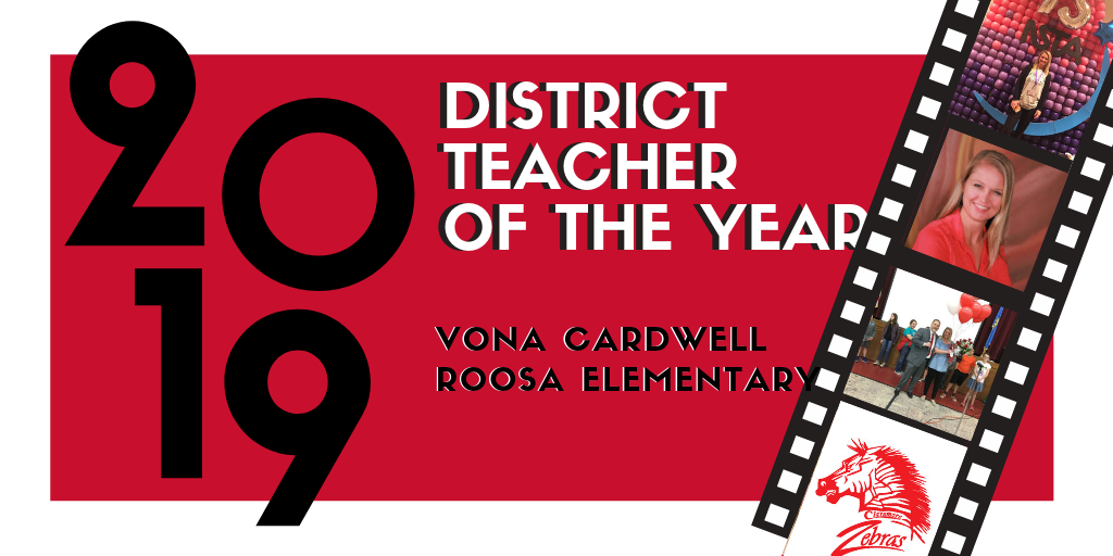 Teacher of the Year Vona Cardwell