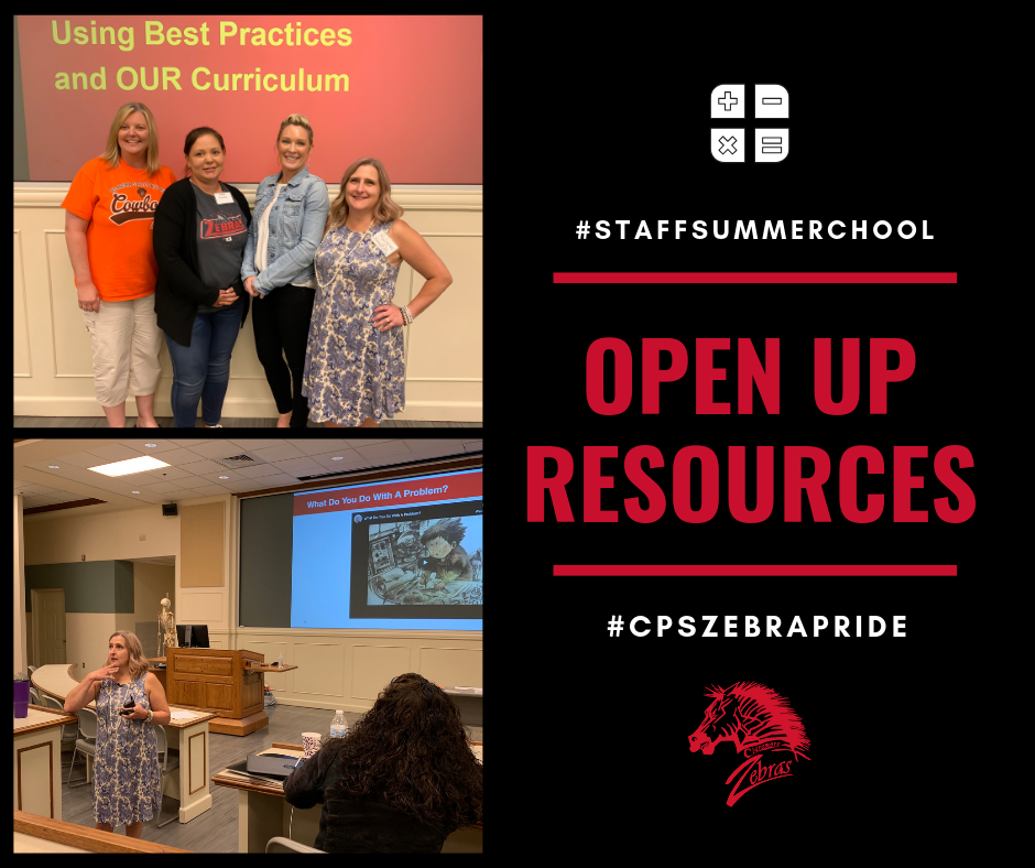 Open Resources #CPSSTAFFSUMMERSCHOOL