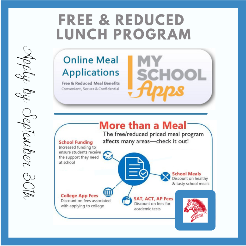 Free & Reduced Lunch Program Applications Due Sept. 30