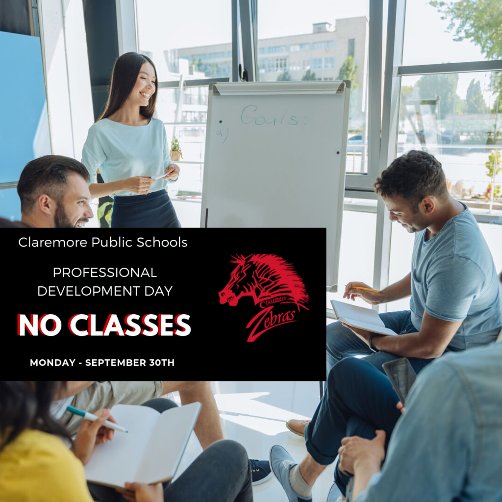 No School September 30th - Professional Development Day