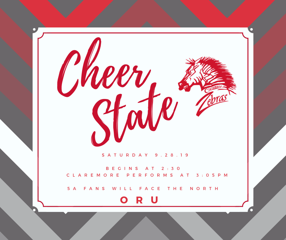 Claremore Cheer Takes State on Saturday