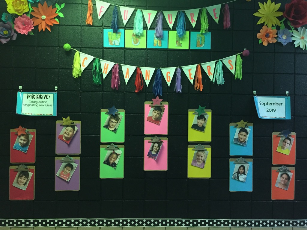 Student of the month recognition wall