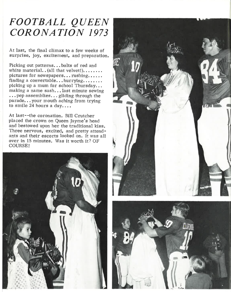 Claremore Class of 1974 Coronation