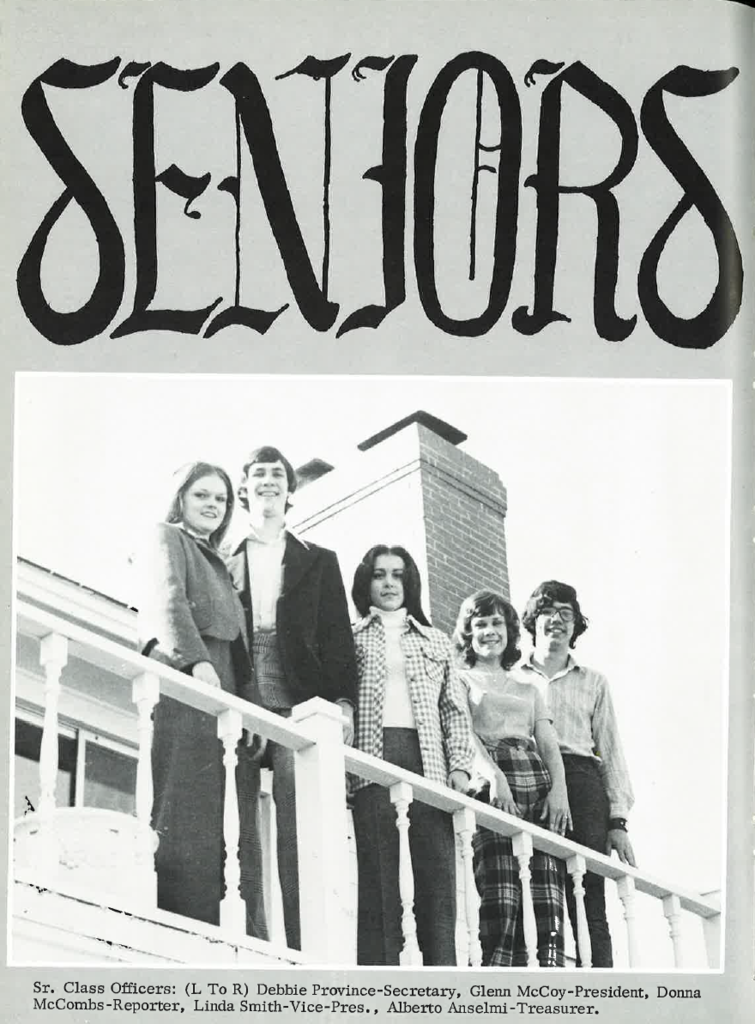 Claremore Class of 1974 Sr Class Officers