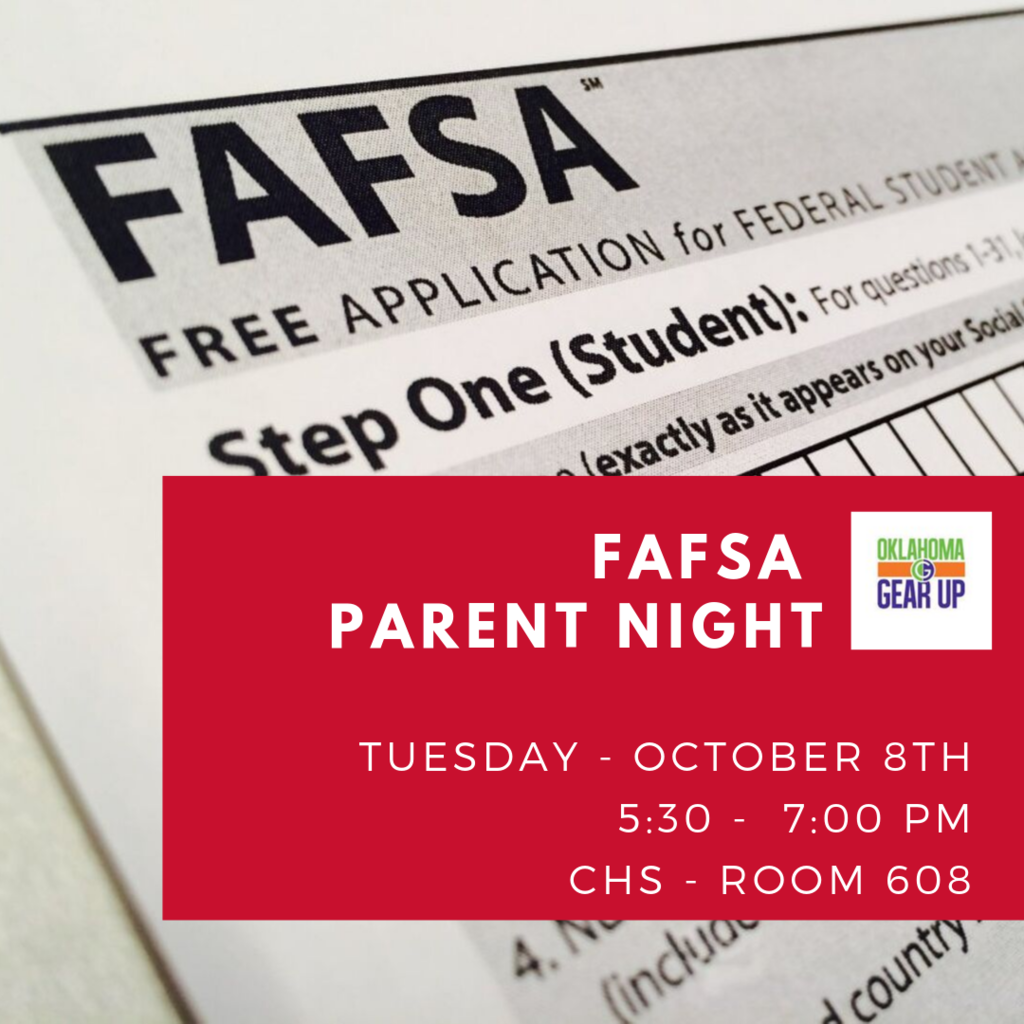 Tuesday is FAFSA Night