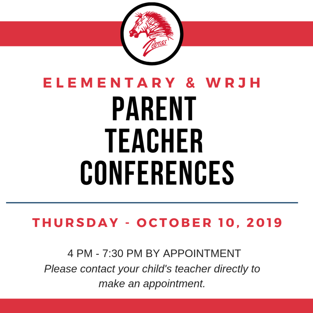 Parent Teacher Conferences Thursday 4PM - 7:30PM