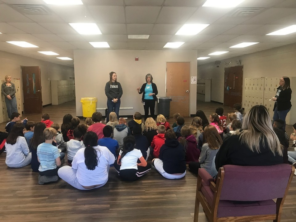 Claremont Elementary hosts guest speakers.