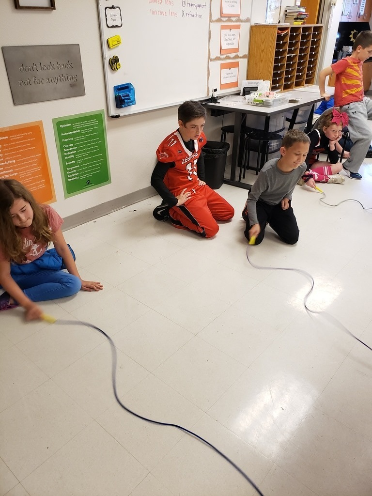 Mrs. Ritter's 5th-grade science class at, Catalayah,  makes some waves this week.