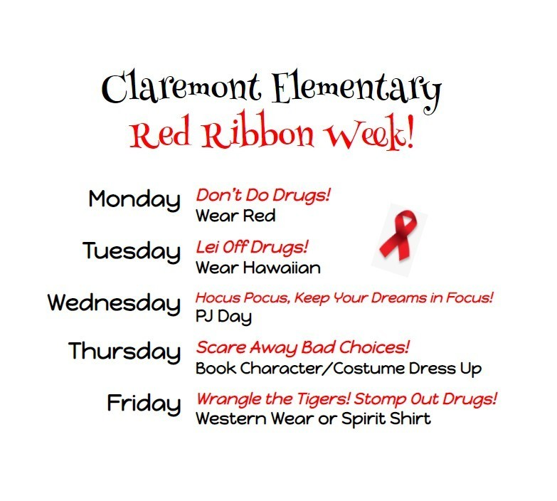List of Red Ribbon Week dress up days