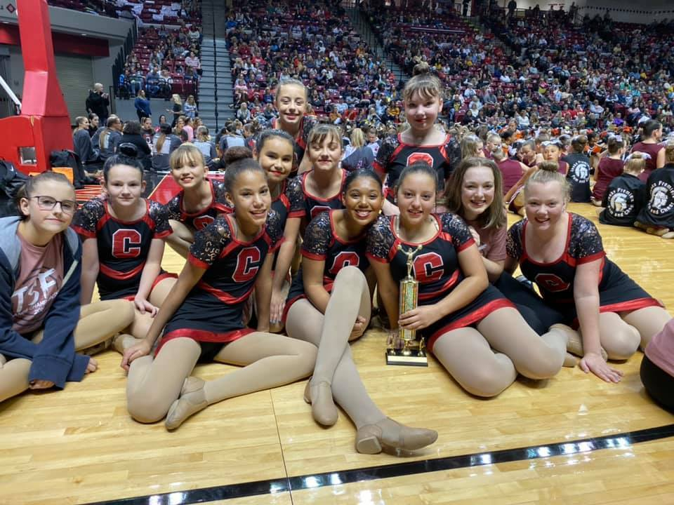WRJH Dance Team takes 1st in kick at TSF.