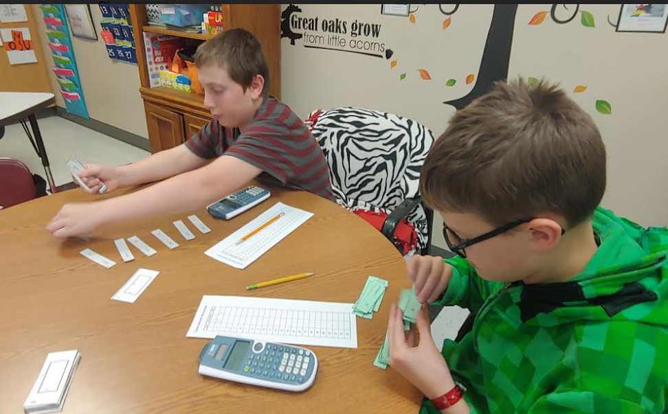 Mrs. Naegele's class is exploring a DESMOS card sort