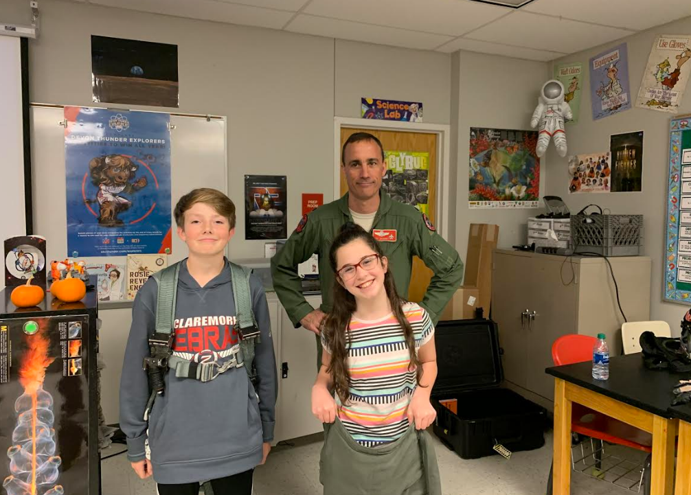 WRJH had a special guest, Lt. Col. Eric Jauquet, from the Oklahoma Air National Guard. Lt. Col. Jauquet