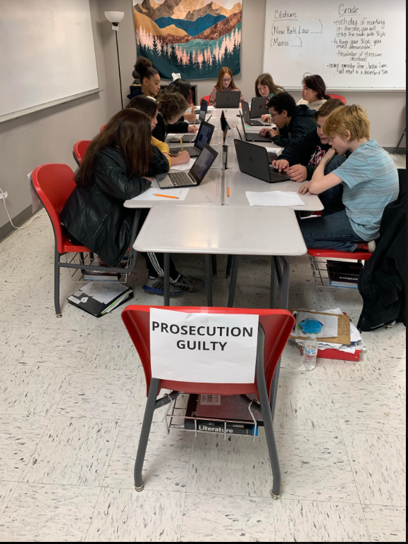 Mrs. Lane's classes at WRJH  are currently working on a mock trial