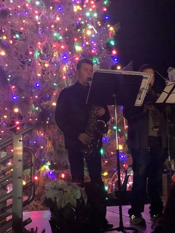 CHS Jazz Quartet entertained the community at the Westbend Winterland.