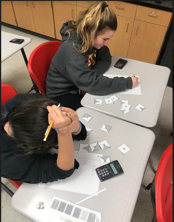 Ms. Lohmann's 6th grade Advanced Math class took what they knew about combining like terms to solve a puzzle.