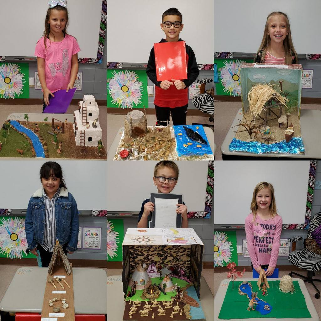3RD Grade Native American Projects. The students did an amazing job!