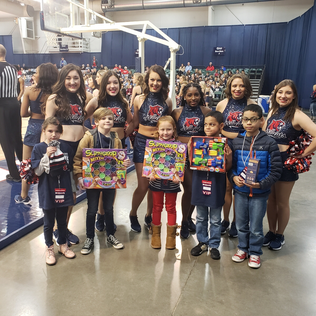 Giveaway winners with dance team