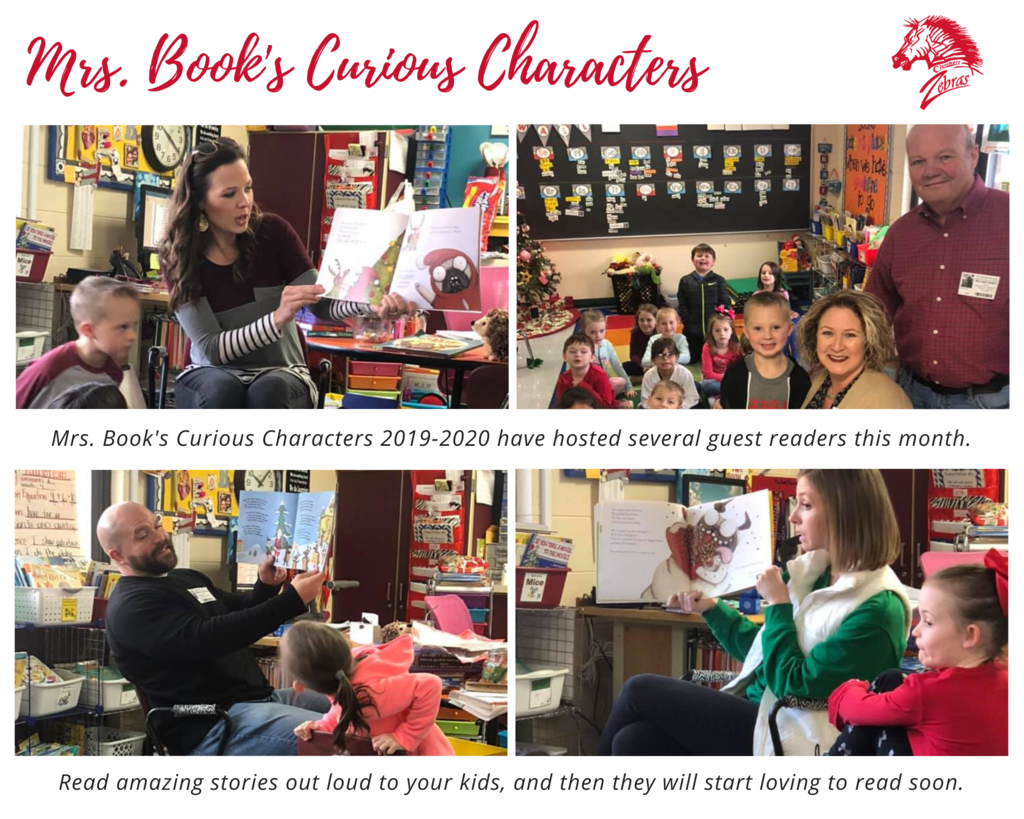 Mrs. Book's class at Westside has had several guest readers this month
