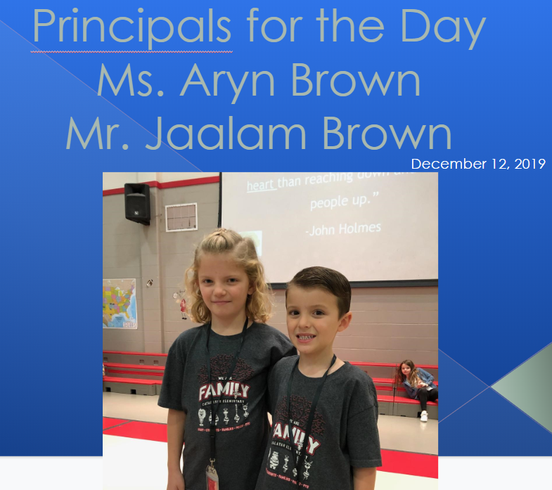 "Aryn & Jaalam Brown won the ""Principals of the day"" auction item last month at the Catalayah Carnival."
