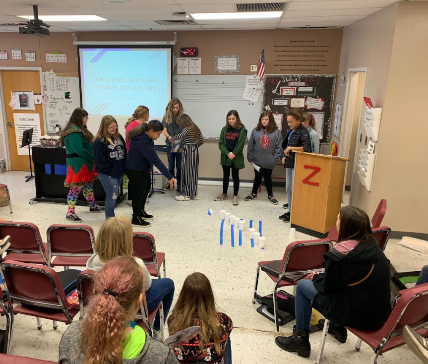 Choir students in Mrs. Shilling's class at WRJH gave Music Theory Presentations this past term.