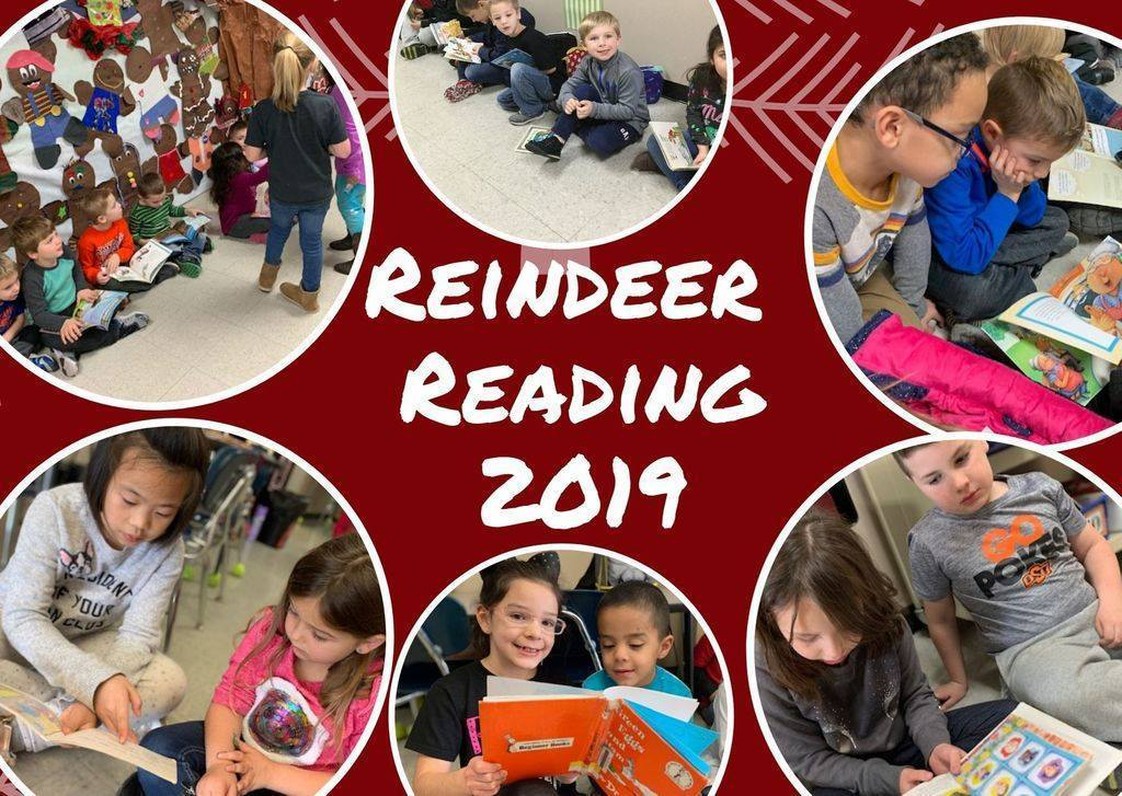 Reindeer Reading 2019, a time of reading fun at Roosa Elementary
