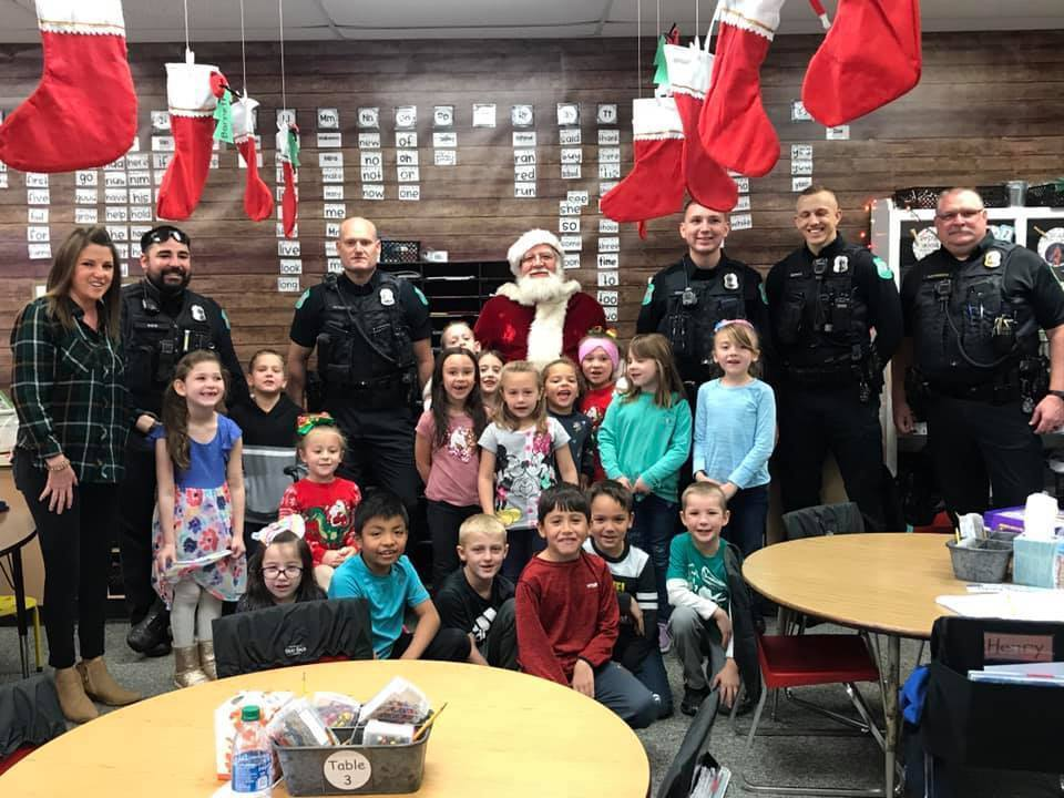 Santa made a surprise visit to Claremont Elementary