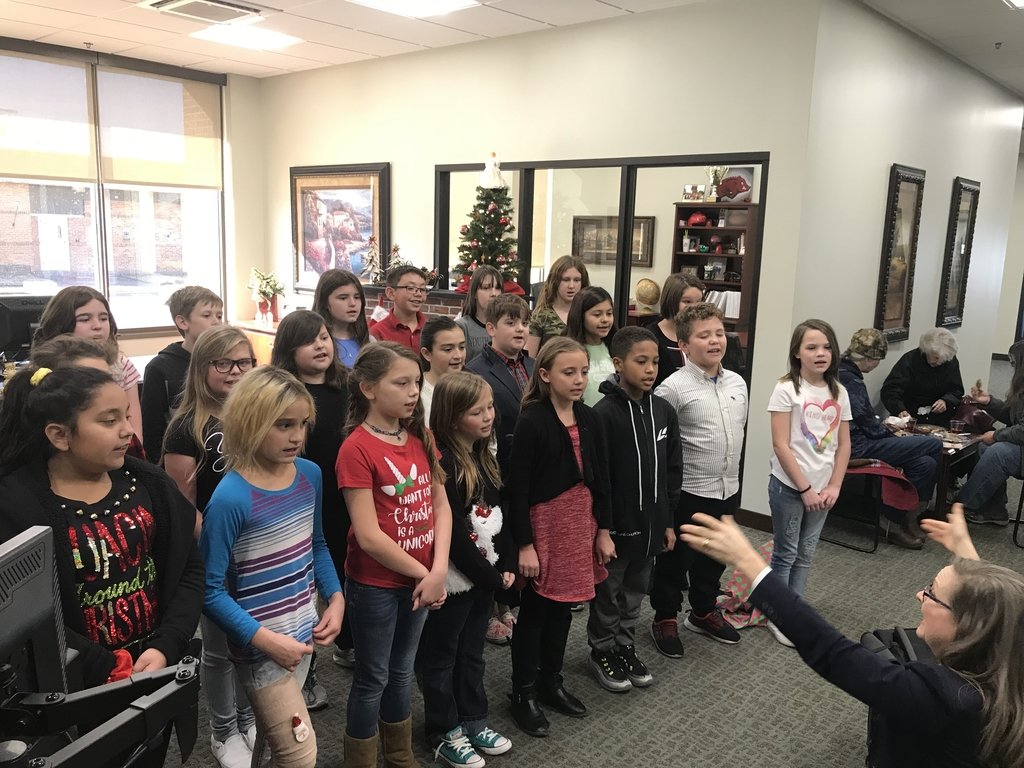 Choir students at bank