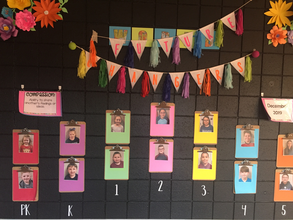 Student of the month wall display